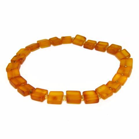 5d97a2167b6 Bracelet adulte d ambre cognac Non poli - bracelet Ambre brut