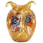 Chouette en verre de Murano, collection Murrine et Or
