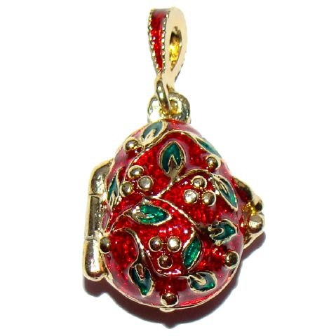 Coccinelle - Pendentif Oeuf style Fabergé