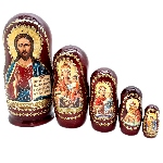 Matriochka Religieuse Icone Jésus Christ