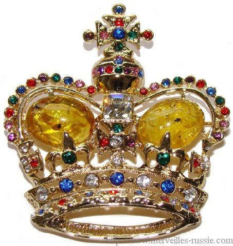 Broche en forme de couronne broche king size couronne - Decoration couronne des rois ...