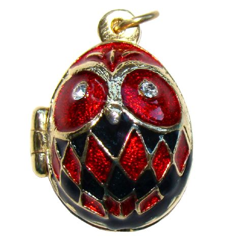 Pendentif Chouette - Pendentif Oeuf style Fabergé