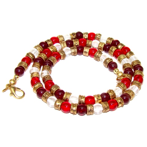 collier perle murano rouge
