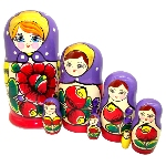 Matriochka classique - Foulard orange