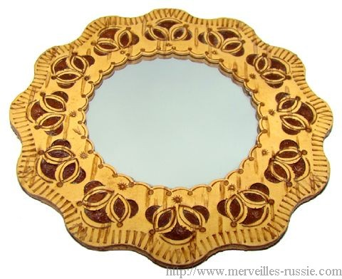 Miroir collection en corce de bouleau miroir en bois for Collection miroir