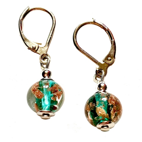 Boucles d'oreille Murano - Turquoise