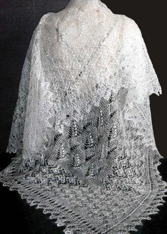 Cadeau pour femme chale blanc russe cadeau original - Chale blanc mariage ...