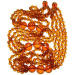 Grand collier en ambre grosses perles facetté - Collier d'ambre luxe