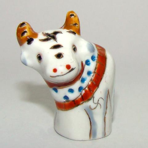 Vache - Dé à coudre de collection en porcelaine