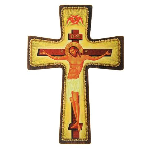 croix crucifix en bois avec suspension. Black Bedroom Furniture Sets. Home Design Ideas