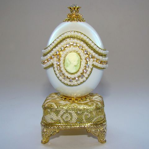 Boite Bijoux Oeuf Musical En Coquille Avec Cam E Inspiration Faberge