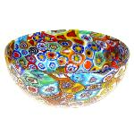 Coupe en verre de Murano, collection Murrine et Or