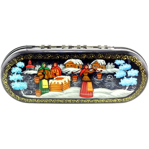 Etui a lunettes russe - Hiver russe