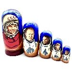 Matriochka astronautes russes