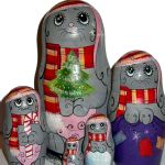 Lapins de Noel - Matriochka collection Serguiev Possad