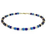 Collier Murano perles bleues