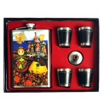 Coffret Flasque à alcool - Poupee Russe