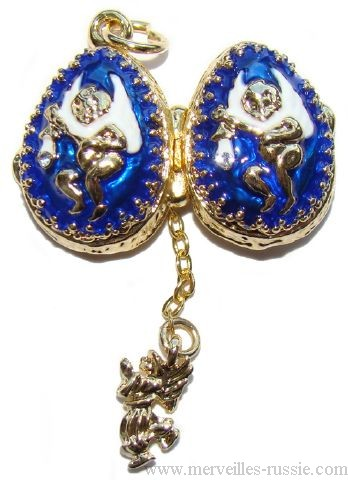 Pendentif Oeuf Fabergé ANGE