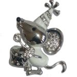 Broche Souris musicienne