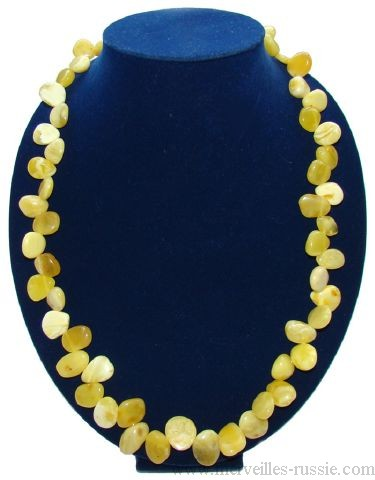Collier Ambre Baltique Citrine claire