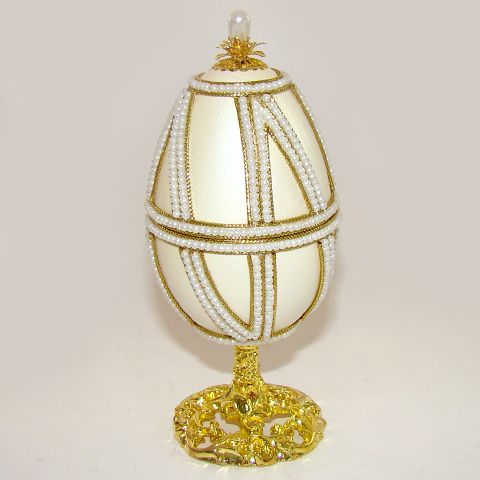 Boite à bijoux oeuf en coquille, inspiration oeuf Faberge