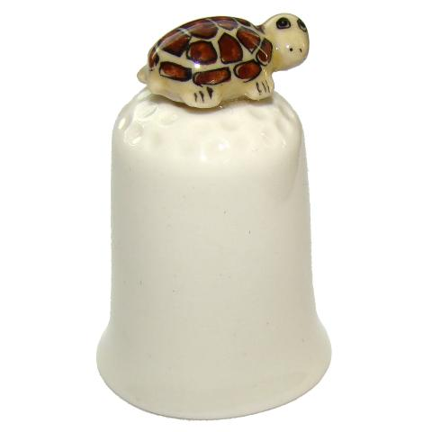 Tortue Dé à coudre de collection en porcelaine