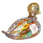Canard en verre de Murano, collection Murrine et Or