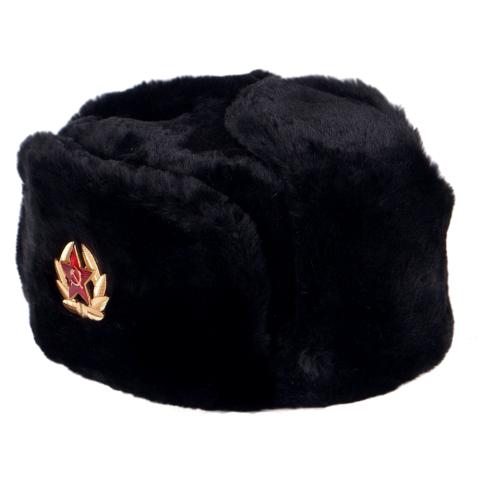 Chapka Russe Militaire - Couleur Noir - étoile rouge URSS 3c3e0d8e4e8