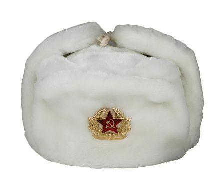 Chapka russe blanche - Bonnet russe 21c6f218ddc