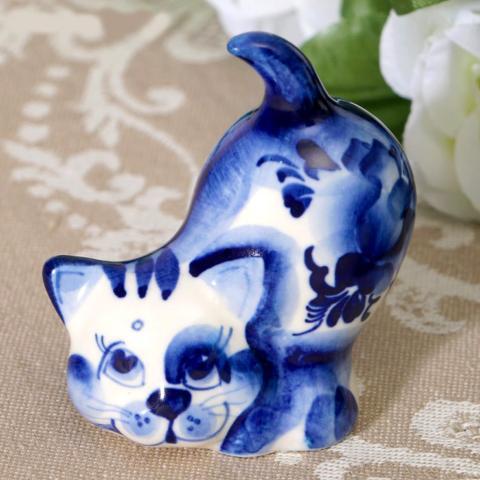 Chat miniature collection céramique
