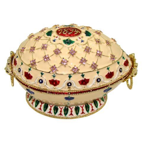 ec0beab42a ŒUF RÉGENCE Faberge - copie ŒUF Renaissance Faberge