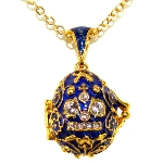 Pendentif Oeuf - Couronne Russe
