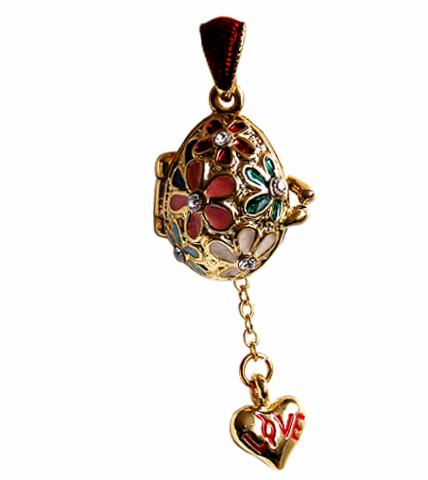 Pendentif Coeur - Pendentif Oeuf style Faberge