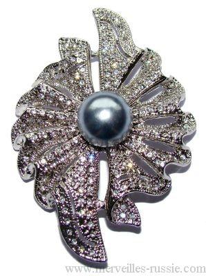 broche perle noir bijou fantaisie raffin cadeau exceptionnel. Black Bedroom Furniture Sets. Home Design Ideas